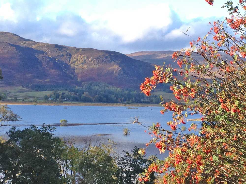 Dunalastair Loch is a 10 minute stroll from Balmore Cottage