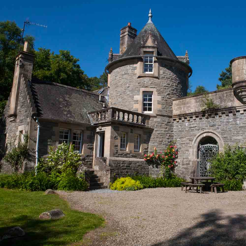 Stay in your very own fairy tale castle. Feel like a prince or princess in our 19th century tower house situated by the river within private woodland.