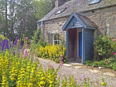 Rose Cottage garden is filled with flowers in summer