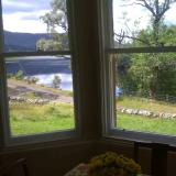 View from Sitting Room across the drive to the loch
