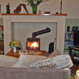 Cosy log fire to warm your toes after a day's sightseeing